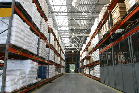 industrial products: modern warehouse for storage of industrial products