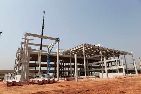 infraestructura: construcción de infraestructura en los prefabricados de hormigón en Sao Paulo, Brasil