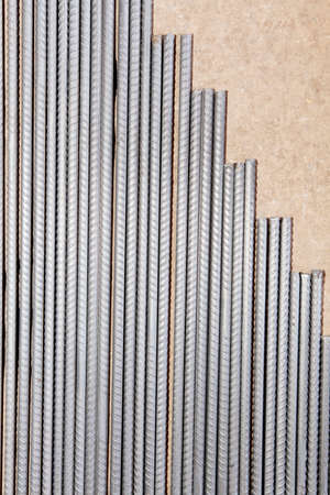 civil construction: pile of steel rebar used in civil construction