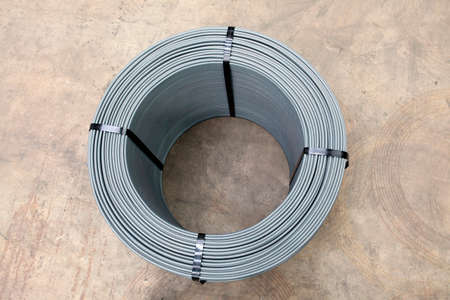 civil construction: roll of steel rebar used in civil construction