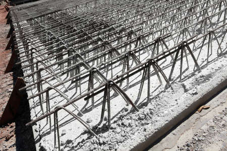 detail of wire of steel rebar to road construction Imagens