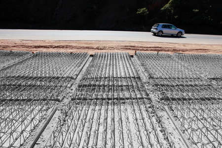 strong base: view of road construction in countryside of brazil
