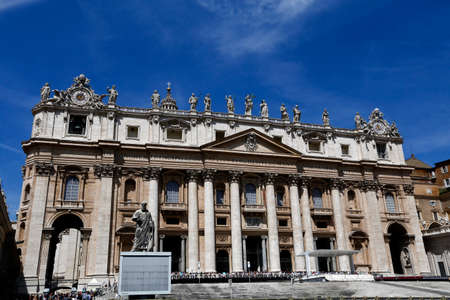 view of St Peters Basilica in Rome, Vatican, Italy