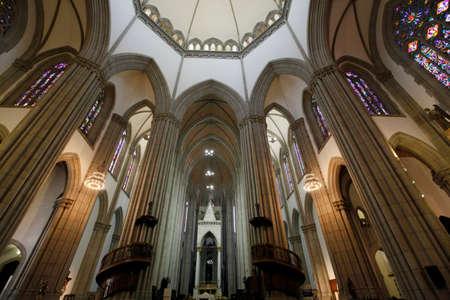 saint paul cathedral da se in sao paulo, downtown, brazil