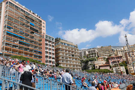 formule: MONTE CARLO, MONACO, EUROPE - MAY 23, 2014 - view of tourist in  formule one race in monte carlo, principality of monaco