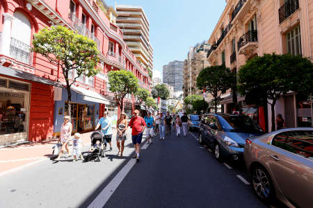 principality: MONTE CARLO, MONACO, EUROPE - MAY 23, 2014 - view of street in monte carlo, principality of monaco Editorial