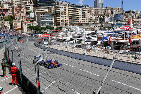formule: MONTE CARLO, MONACO, EUROPE - MAY 23, 2014 - view of monte carlo in formule 3 race Editorial