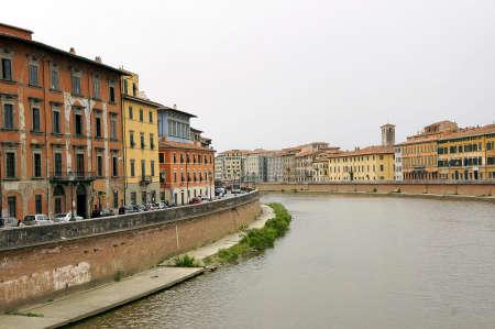 PISA, TOSCANY, ITALY - cityscape of pisa