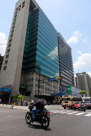 caracas: CARACAS, VENEZUELA - MAY 06, 2014 - cityscape downtown of caracas