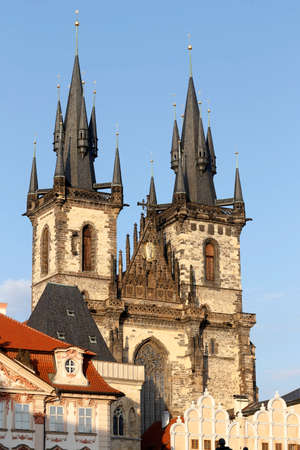 The Church of Mother of God before Týn, often translated as Church of Our Lady before Týn, is a gothic church and a dominant feature of the Old Town of Prague, Czech Republic