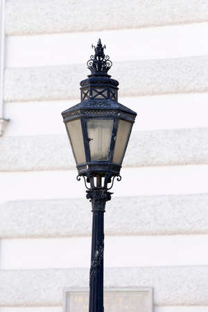 detail of pole in Vienna Hofburg Imperial Palace at day, Austria Stock Photo