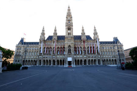 The Wiener Rathaus Vienna City Hall, Austria