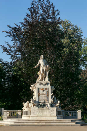 The monument to Wolfgang Amadeus Mozart in the Burggarten in Vienna.   Editorial