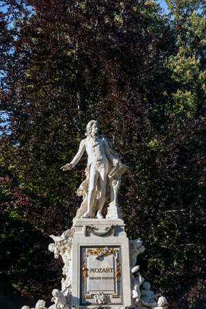 wolfgang: The monument to Wolfgang Amadeus Mozart in the Burggarten in Vienna.   Editorial