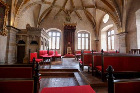 gothic architecture inside castle in prague, Czech Republic