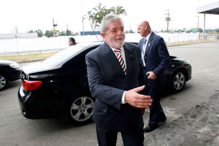 Sao Paulo, SP, Brazil - oct 07, 2009 - Luiz Inacio Lula da Silva, known simply as Lula, is a Brazilian politician who was President of Brazil elected in 2003 and current candidate for presidential elections, during a visit to transport fair