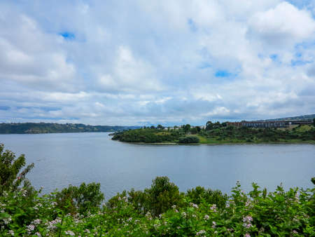 view of the city of Castro, is the capital of the province of Chiloe, located south of Chile. On the east coast, is home to almost the entire population of the commune Stock Photo