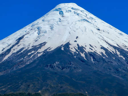 Osorno Volcano with its snow peak in Puerto Varas, south of Chile. Reklamní fotografie