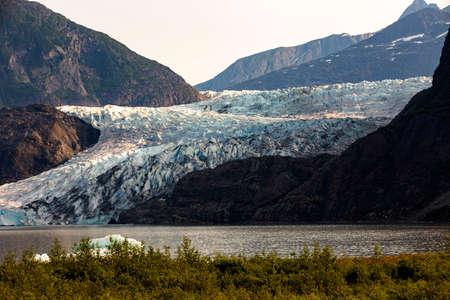 Mendenhall glacier on summer in Juneau, Alasca, USA