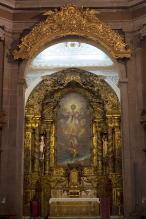 Interior of Congregates Church also know as Church of Saint Anthony in Porto city, Portugal Editorial