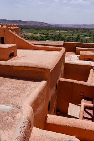 Kasbah Taourirt, former fortress palace mud-built in the village of Ouarzazate. It is dubbed the