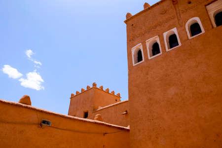 vue sur la kasbah dans la vieille ville de quarzazate, maroc