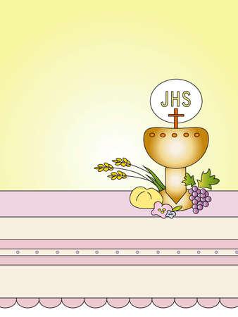 eucharistie: premi�re communion Banque d'images
