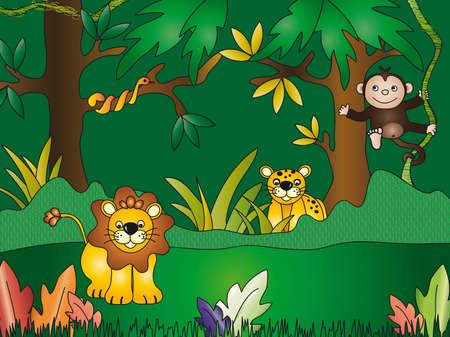 hypnotise: jungle illustration