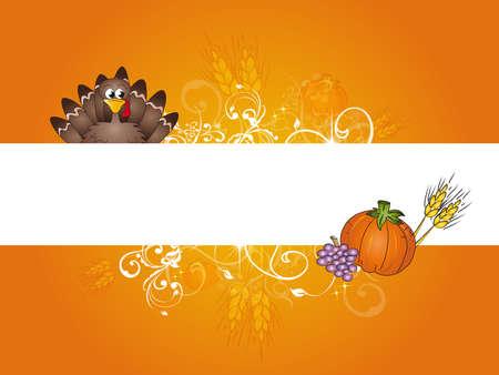 tom turkey: thanksgiving card
