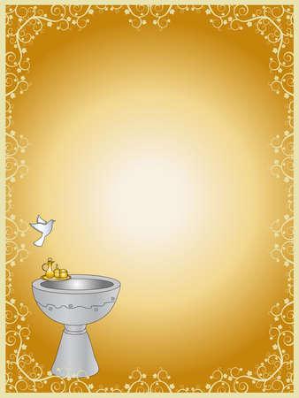 bautismo: el bautismo de tarjetas Foto de archivo