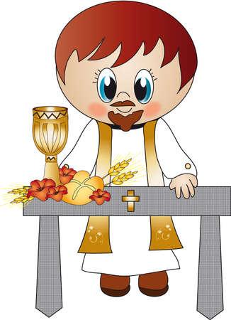 robo: sacerdote Foto de archivo