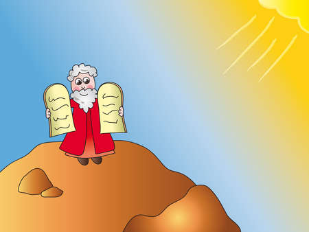 bible ten commandments: moses