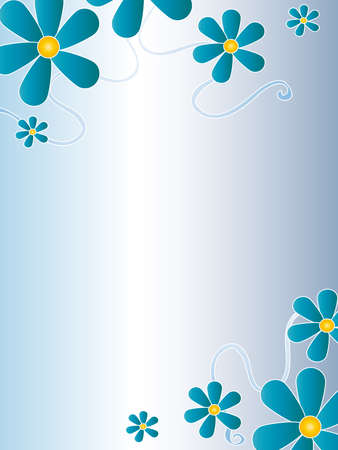 page decoration: card flowers Stock Photo