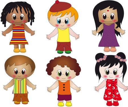 nationalities: children illustration