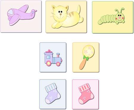 icônes bébé