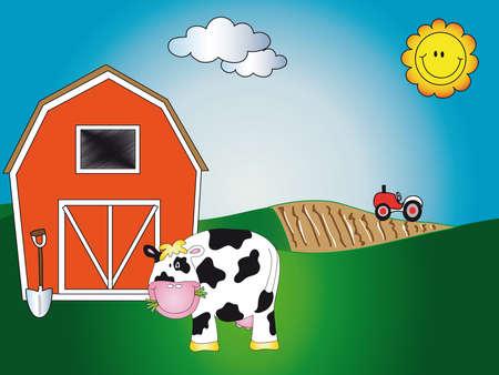 tractor: farm cartoon