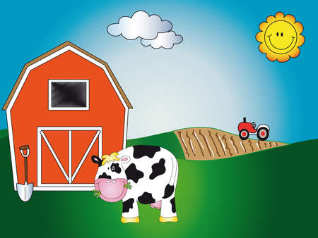 granja de dibujos animados Foto de archivo - 14494446