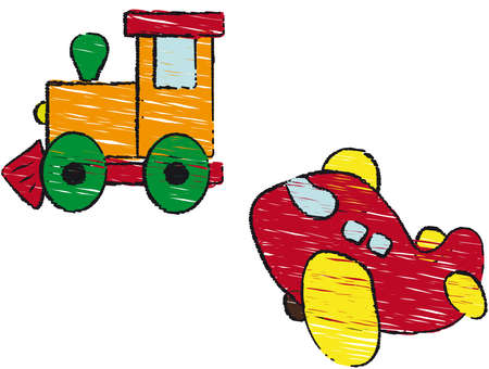 train and plane photo