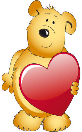 teddy bear with heart photo