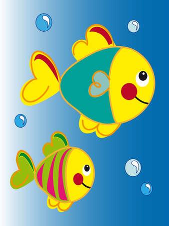 sub tropical: fish cartoon Stock Photo