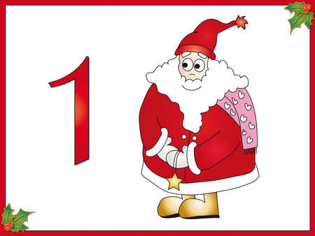 12 days of christmas  1 santa claus Stock Photo - 14797097