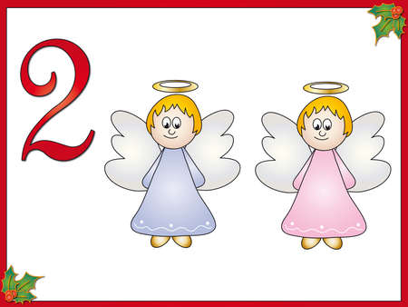 12 days of christmas: 12 days of christmas  2 angels