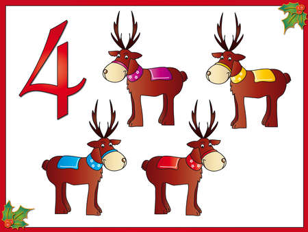 12 days of christmas  4 reindeer photo