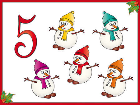 12 days of christmas  5 snowman photo