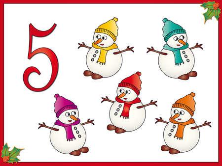 12 days of christmas  5 snowman photo