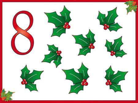 8 12: 12 days of christmas  8 hollys