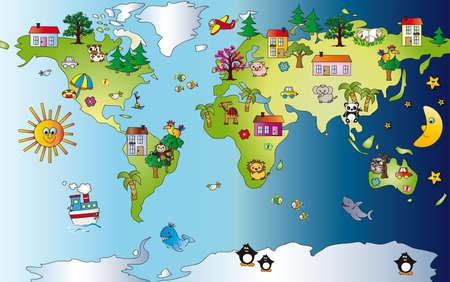 coala: mapa del mundo