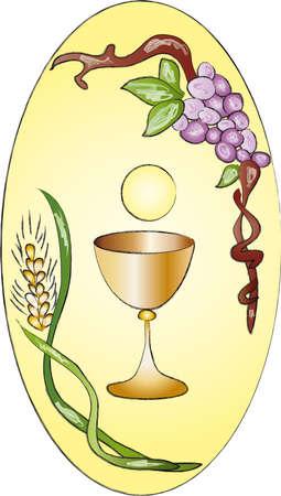 first communion: premi�re communion Banque d'images