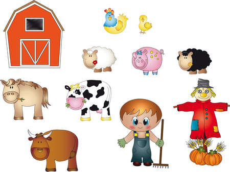 stables: farm Stock Photo