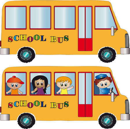 chofer de autobus: autobús escolar